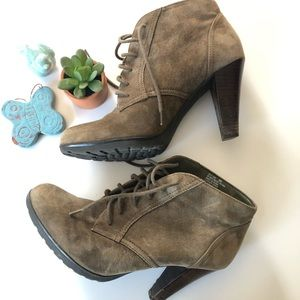 Suede Bass Booties